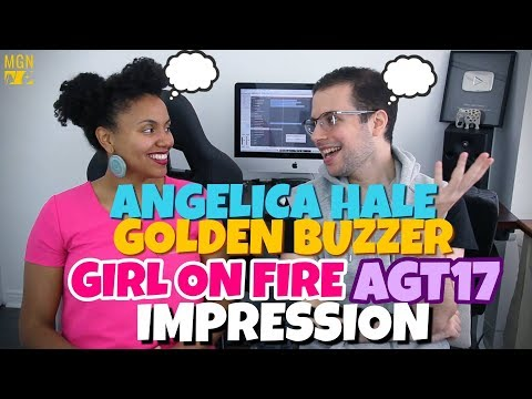 Angelica Hale - Girl On Fire | Golden Buzzer | America's Got Talent 2017 | IMPRESSION
