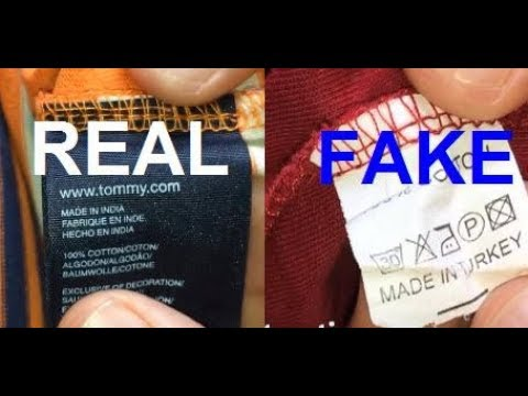 d2f5d995 Real vs. Fake Tommy Hilfiger polo. How to spot fake Tommy. - YouTube