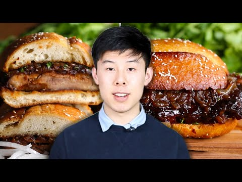 how-to-make-alvin's-giant-bbq-rib-sandwich-•-tasty