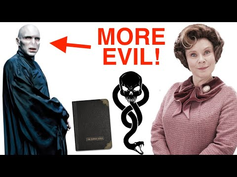 Why does EVERYONE think Umbridge is MORE EVIL than Voldemort?
