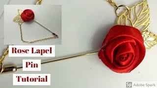 DIY Satin rose laṗel pin Tutorial