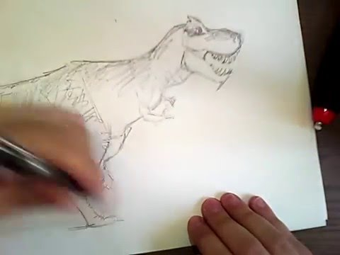 How to Draw a Tyrannosaurus