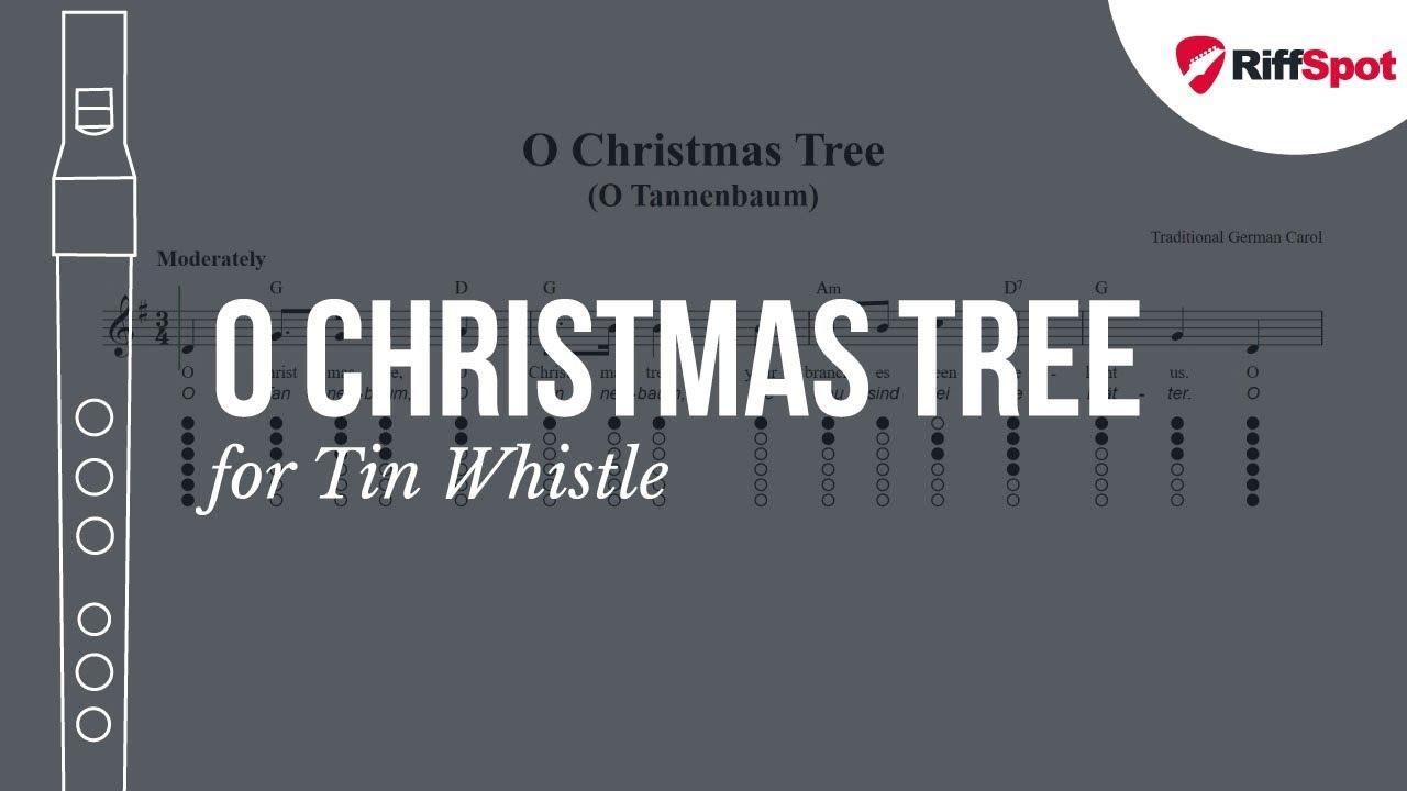 O Christmas Tree Tin Whistle Tab - YouTube