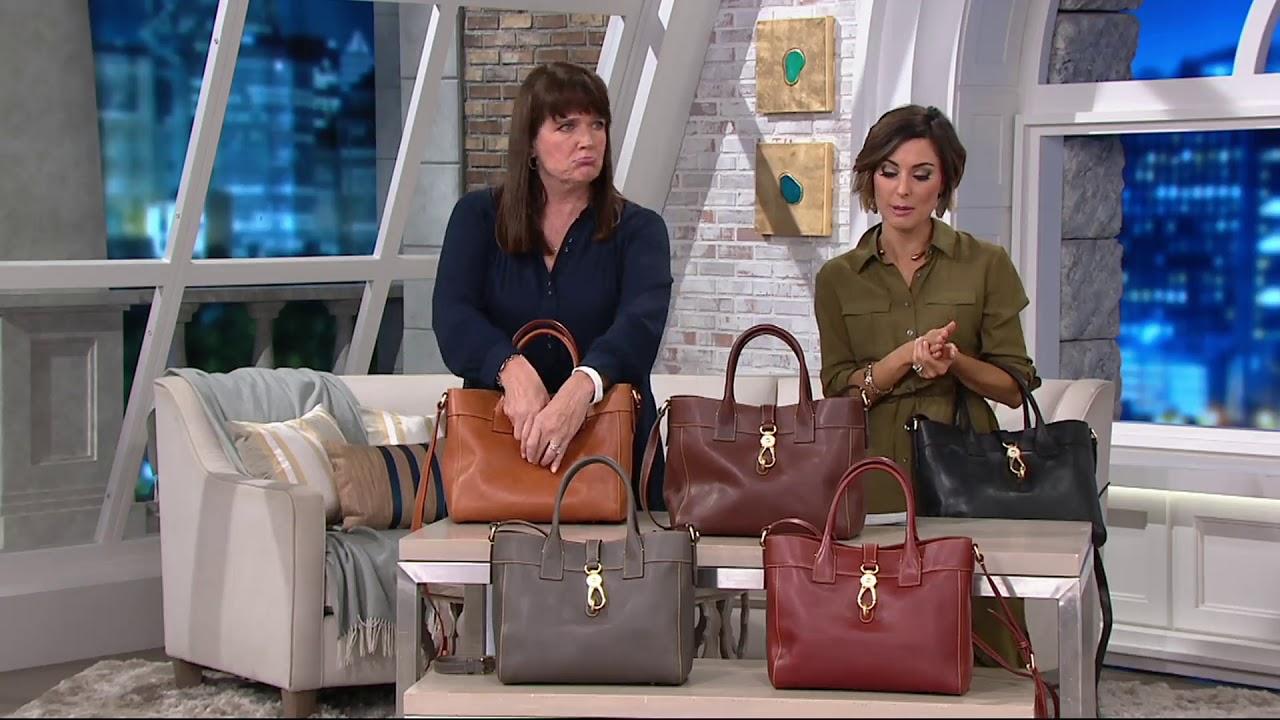 f483a5aa52 Dooney & Bourke Florentine Large Amelia Tote Handbag on QVC - YouTube