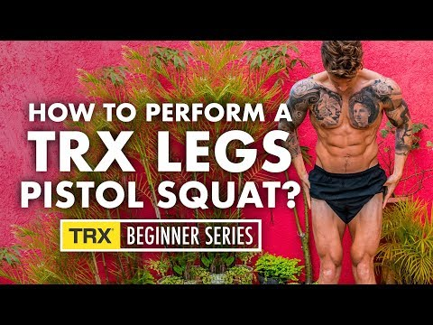 TRX exercise for glutes and legs (correct technique pistol squat)