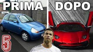 5 Auto DI CALCIATORI Prima e Dopo