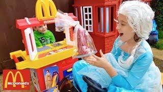 Princess with Baby Doll at  McDonald's