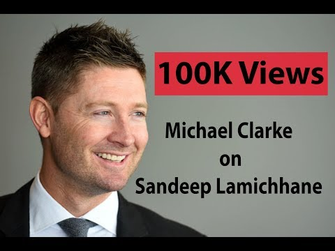 Michael Clarke speaks about Sandeep Lamichhane and Nepali cricket during his facebook live