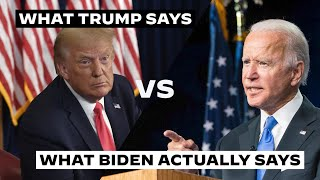 President donald trump seems to have a lot say when it comes joe biden's stance on the issues. we'll let you be judge.join our campaign: http://www...