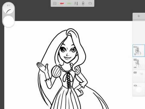 สอนวาดการ์ตูน เจ้าหญิง ราพันเซล Rapunzel