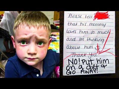 Мама заметила записку в ланч-боксе пятилетнего сына, то что она прочитал поразило всех