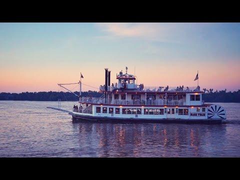 Un crucero por el Mississippi a bordo de varco de vapor del S.XIX
