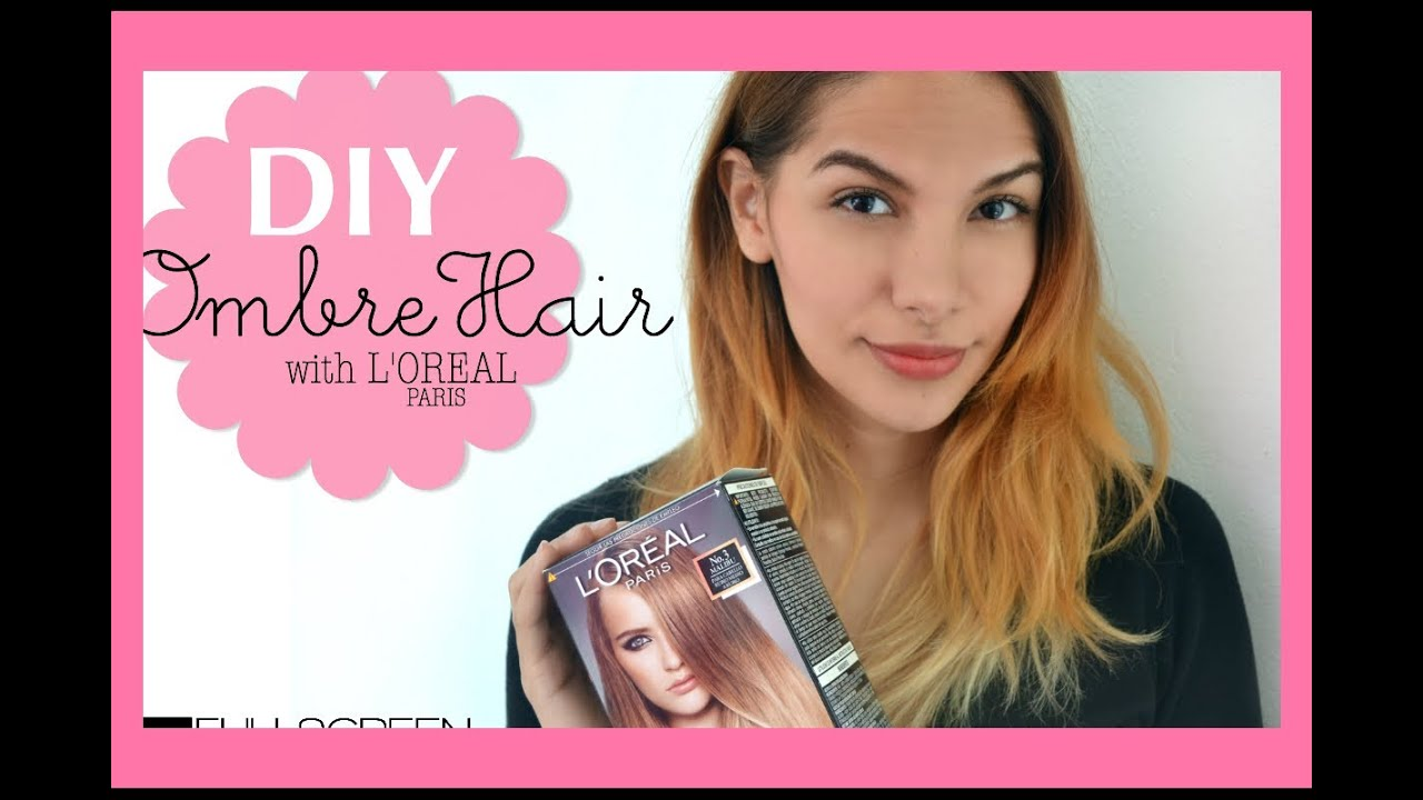 ombre hair with l 39 oreal paris youtube. Black Bedroom Furniture Sets. Home Design Ideas
