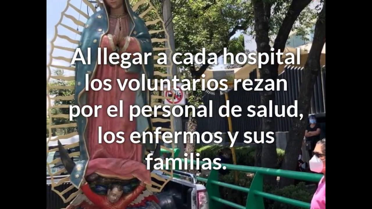 Coronavirus: Imagen de la Virgen de Guadalupe visita hospitales en Ciudad de México