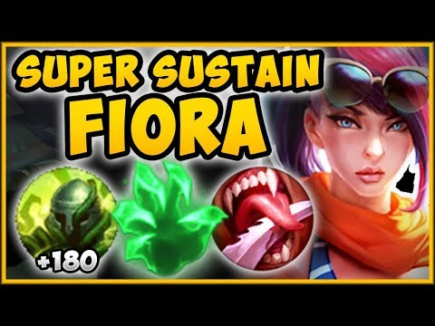 UNTHINKABLE STRATEGY?? UNLIMITED SUSTAIN FIORA STRAT IS 100% BUSTED FIORA SEASON 9 League of Legends
