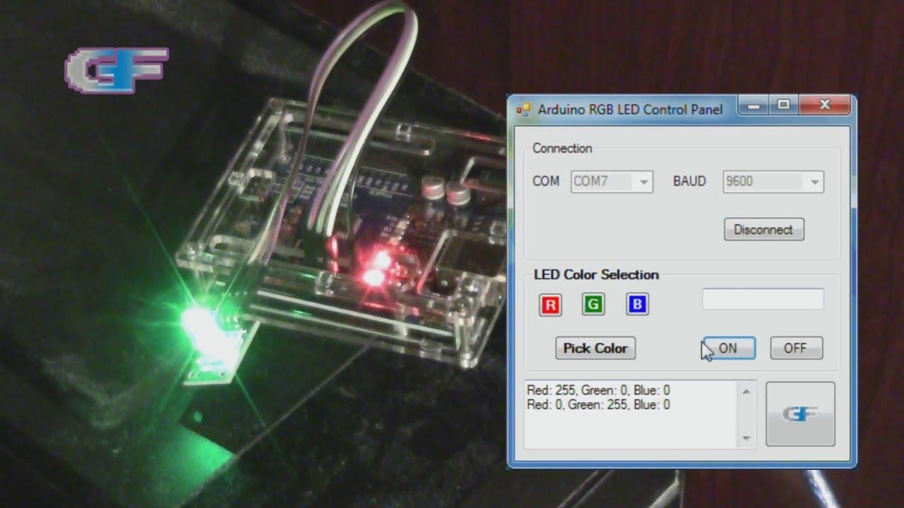 Windows application - Arduino RGB LED Control Panel