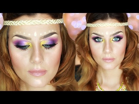 Music Festival Makeup Tutorial HIPPIE CHIC   None Fashion and Beauty