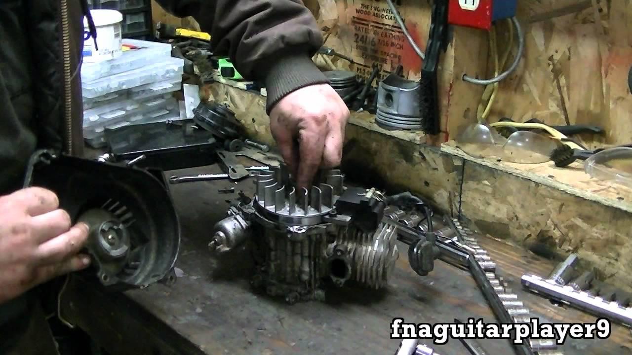 47 cc 2 stroke mini pocket rocket bike rebuild part 1 of 2 teardown  [ 1280 x 720 Pixel ]