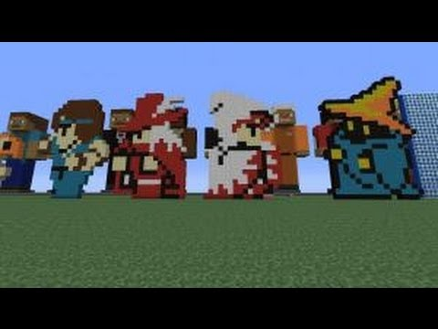Minecraft Pixel Arttime Lapse Original Final Fantasy Job Sprites