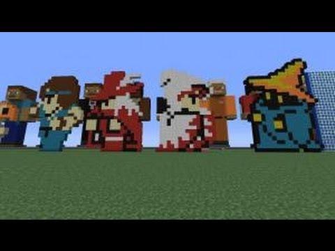 Minecraft Pixel Art/Time Lapse: Original Final Fantasy Job Sprites ...