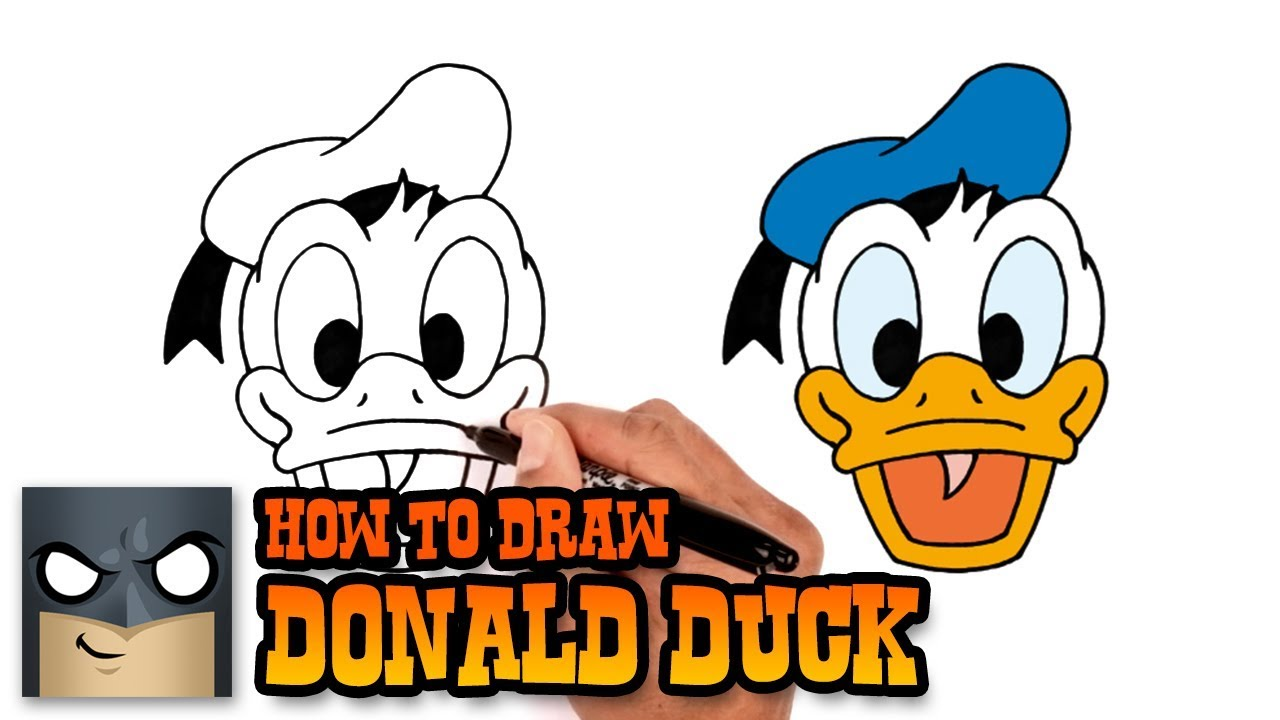 How To Draw Donald Duck Step By Step Drawing Tutorial Youtube