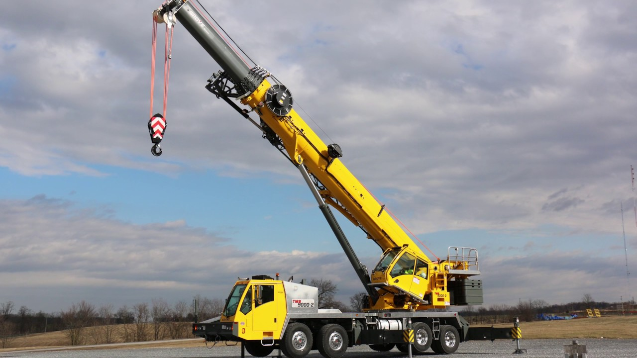 New Grove Tms9000 2 Truck Mounted Crane Youtube