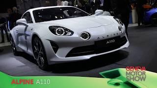 Alpine A110 en direct du salon de Genève 2018
