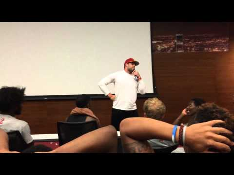 USC Football Player Teddy Baker Hilariously Impersonating Coach Marques Tuiasosopo