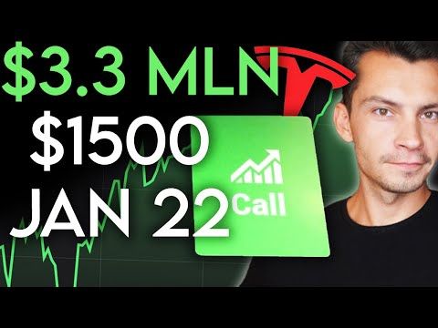 I bought $3.3 Million worth of Tesla Stock $1500 JAN 2022 Call Options