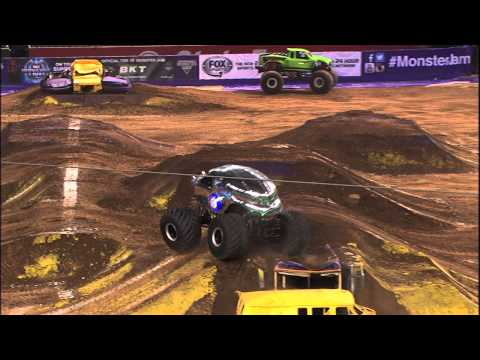 Monster Jam - New Earth Authority Freestyle in Phoenix - January 25, 2014