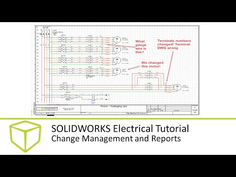 SOLIDWORKS Electrical Tutorial - Change Management And Reports