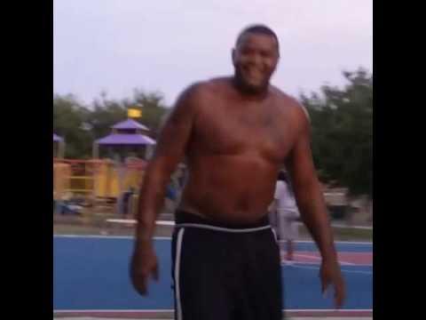 Lenny  Cooke shootin hoops around in the hood