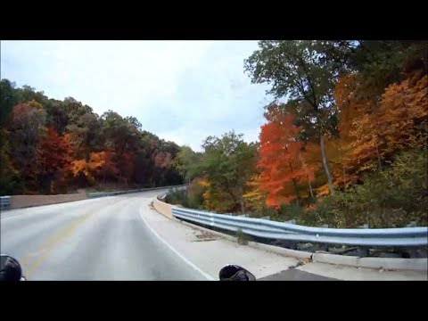 Harley Davidson road trip riding Starved Rock State Park Illinois 71 fall colors motorcycle ride