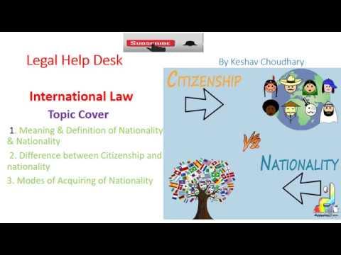 Nationality & Citizenship- International law