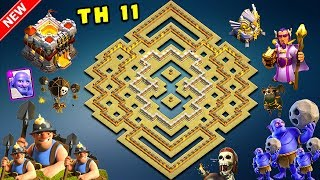 Best Th11 War Base 2018 Anti 1 Star/Anti 2 Star With Replay Anti Bowler Anti Miner Anti Everything
