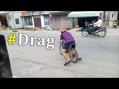 Xe đạp độ Drag siêu tự do gác máy 2 thì (máy cắt cỏ 2 thì)