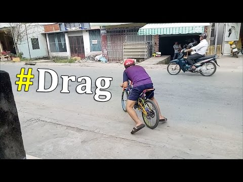 DRAG BIKE (Bicycle Drag) use 2-Stroke Engine. Amazing, very Good