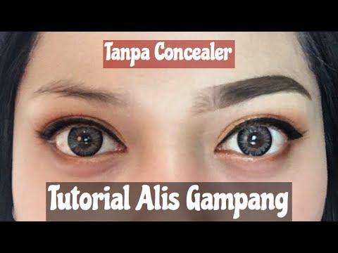Eyebrow Routine Tutorial (Cara Buat Alis Gampang) Tanpa Concealer Indonesia | Nitha Fitria