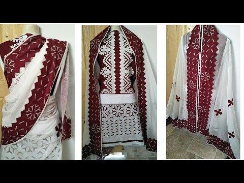 Latest dress design applique work youtube