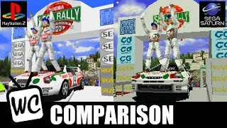 Sega Rally - PS2 vs Saturn - Graphics Comparison (60fps)