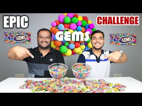 EPIC CADBURY GEMS CHALLENGE | Food Eating Challenge | Food Eating Competition | Food Challenge