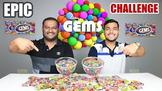 EPIC CADBURY GEMS CHALLENGE | Food Eating Challenge | Food Eating Competition | Food Challenge