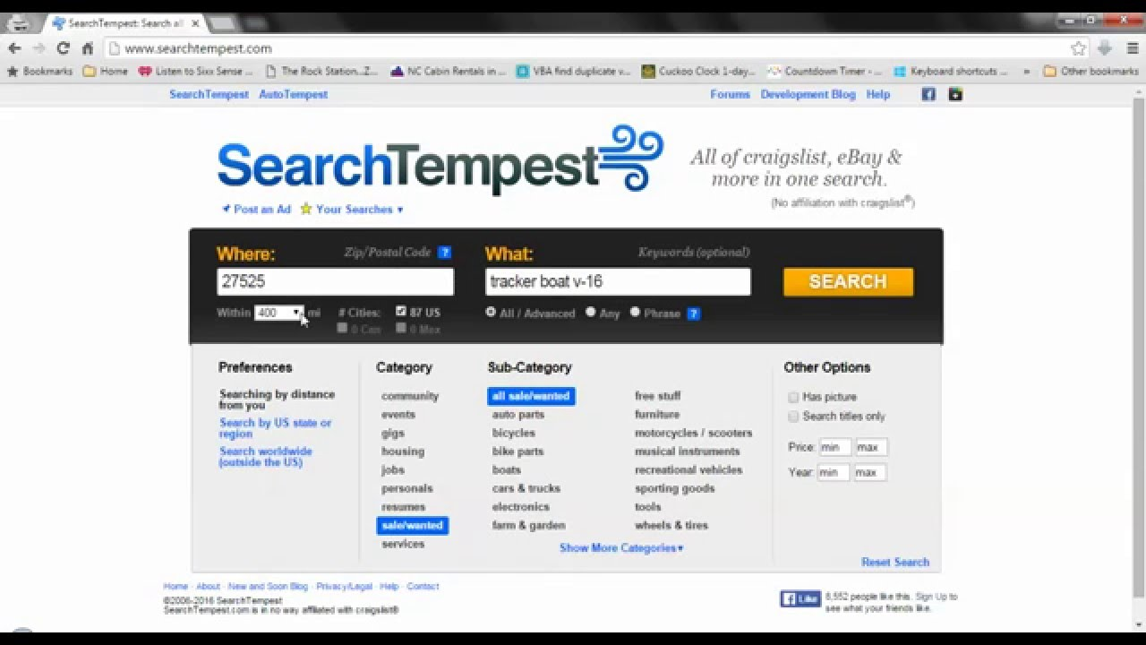 Craigslist Search Engine: Easily Search ALL of Craigslist