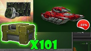 Tanki Online ROAD TO LEGEND #18 By LendaBR | Buying MEDIC kit + 101 containers opening