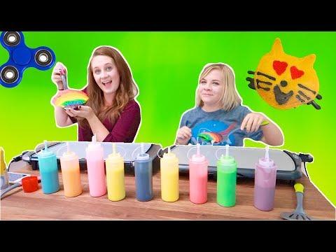 PANCAKE ART CHALLENGE! (DIY W/ Missy Lanning!) // SoCassie