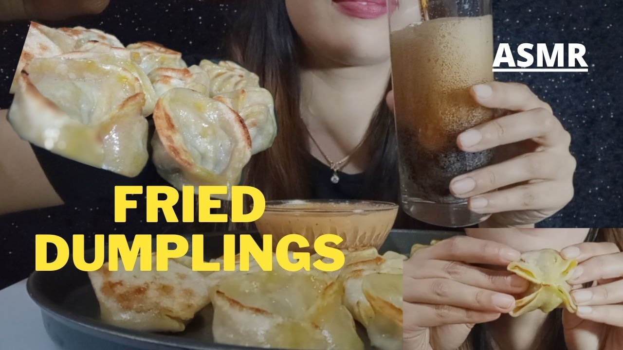 Download ASMR HOMEMADE DUMPLINGS | DIFFERENT SHAPE MOMO MUKBANG | SAUCE + Coke | LyaShay