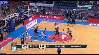 Crvena zvezda Telekom - Partizan | 92:77 [ABA lige,8 Kolo 03.11.2015]