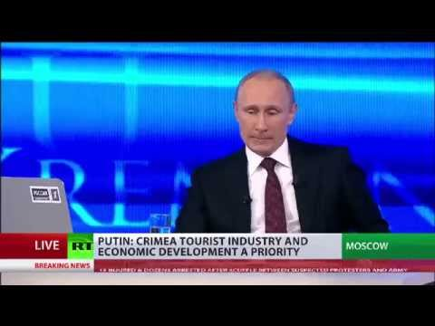 Putin admits lies about Russian troops in Crimea: comparison of statements now and then.