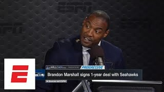 Seattle Seahawks sign Brandon Marshall over Dez Bryant? Woodson wonders why | Will Cain Show | ESPN