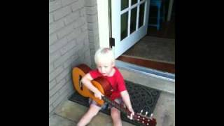 Afton's rock version of You are my sunshine.